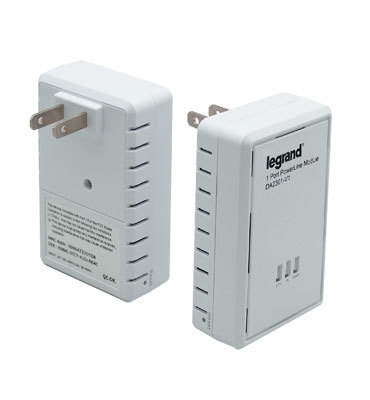 Pass & Seymour Wiring Devices DA2301-V1 On-Q DA2301-V1 Powerline Ethernet Bridge Adapter; 1-Port