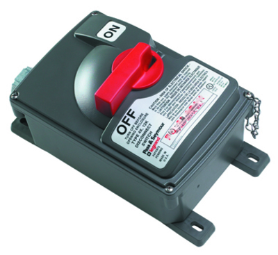 Pass & Seymour Wiring Devices PS30-SS Pass & Seymour PS30-SS Rotary Specification Grade Non-Fusible Safety Switch; 600 Volt AC, 30 Amp, 3, Grip Handle, Gray