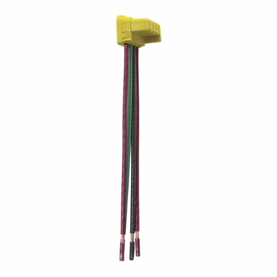 Pass & Seymour Wiring Devices PTS6-STR4 Pass & Seymour PTS6-STR4 PlugTail™ Right Angle Connector; 120/277 Volt AC, 3-Pole, 4-Wire, Black/Red/Green