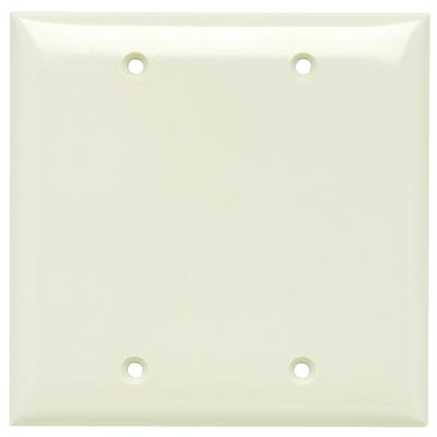 Pass & Seymour Wiring Devices SP23-LA Pass & Seymour SP23-LA Wall Plate 2G Blank Light Almond
