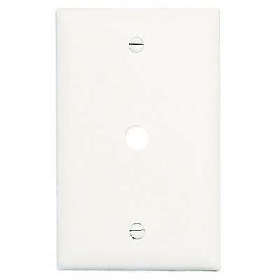 Pass & Seymour Wiring Devices TP11-W Pass & Seymour TP11-W TradeMaster® Standard Size 1-Gang Wallplate; Box Mount, Nylon, White