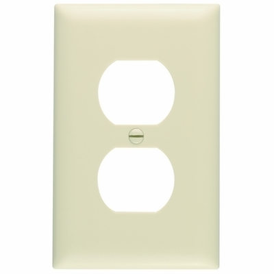 Pass & Seymour Wiring Devices TP8-I Pass & Seymour TP8-I TradeMaster® Chemical Resistant 1-Gang Duplex Receptacle Wallplate; Wall Mount, Nylon, Ivory