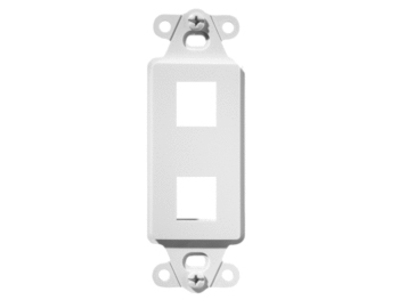 Pass & Seymour Wiring Devices WP3412-WH On-Q WP3412-WH 1-Gang Decorator Outlet Strap; Wall Box, (2) Receptacles, (2) Keystones, High Impact Flame Retardant Plastic, White