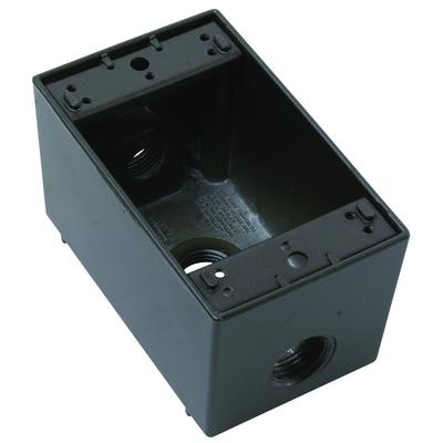 Pass & Seymour Wiring Devices WPBD23-BR Pass & Seymour WPBD23-BR Wp Deep Box 1G 3 Hole 12 Bronze