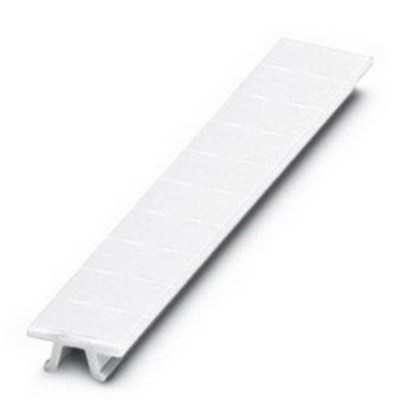 """Phoenix Contact 1051029:0071 """"Phoenix Contact 1051029:0071 Terminal Block 10-Section Flat ZB Zack Marker Strip, 6 mm, """"""""Vertically Labeled Consecutive Numbers 71 - 80"""""""", Polyamide/White"""""""