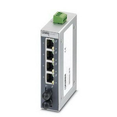 Phoenix Contact 2891028 Phoenix 2891028 4TX Autocrossing FL Switch SFNB RJ45 Industrial Ethernet Switch; 4-Port, 10/100 Mbps, DIN Rail Mount