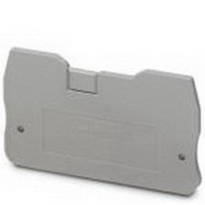Phoenix Contact 3205161 Phoenix Contact 3205161 Terminal Block End Cover, 58.8 mm Length, 2.2 mm Width, 31.6 mm Height, Polyamide, Gray