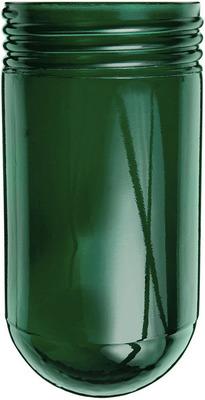 Rab Lighting, Inc. GL100G RAB GL100G Cylindrical Round Bottom Vaporproof Globe; Crystal Lime Glass, Green