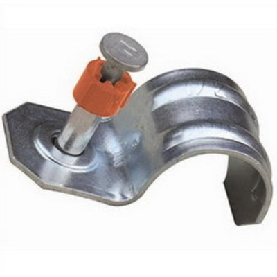 Ramset 10HSMP034 Ramset 10HSMP034 1-Hole Conduit Strap With Plated Pin; 1 Inch