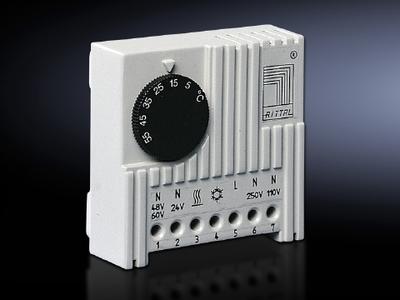 Rittal  Enclosures 3110000 Rittal 3110000 Enclosure Internal Thermostat; 115/230 Volt AC, 24 Volt DC, 5 to 60 deg C
