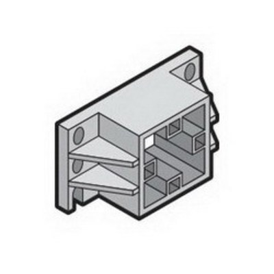 Rittal  Enclosures 9649010 Rittal 9649010 Busbar End Support; Polyamide 6.6