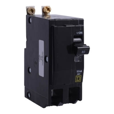SQUARE D - SCHNEIDER ELECTRIC QOB2100VH Schneider Electric / Square D QOB2100VH Miniature Circuit Breaker with Visi-Trip® Indicator; 100 Amp, 120/240 Volt AC, 2-Pole, Bolt-On Mount