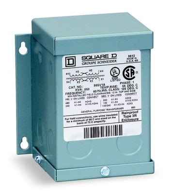 Square D - Schneider Electric 1.5S6F Schneider Electric / Square D   1.5S6F  Dry Transformer 1 Phase 1.5KVA 120