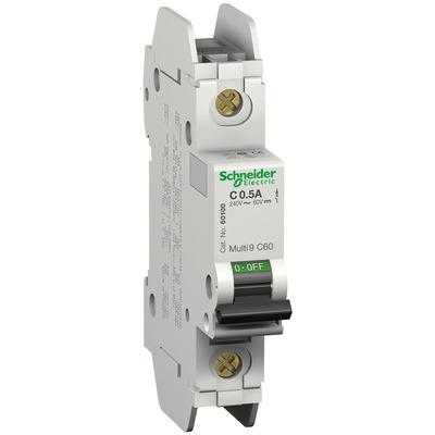 Square D - Schneider Electric 60113 Schneider Electric / Square D 60113 Multi 9™ C60 Miniature Circuit Breaker; 20 Amp, 240 Volt AC, 60 Volt DC, 1-Pole, DIN Rail Mount