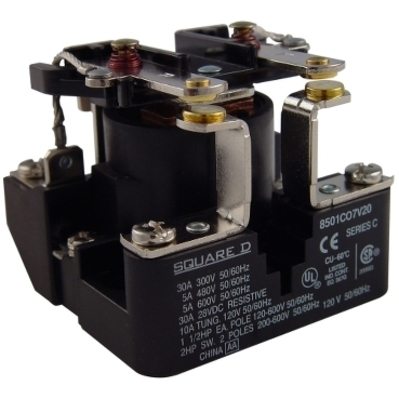 Square D - Schneider Electric 8501CO7V04 Schneider Electric 8501CO7V04 Relay 600VAC 5AMP Type C options
