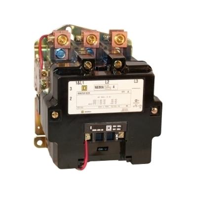 Square D - Schneider Electric 8502SFO2V06 Square D 8502SFO2V06 Non-Reversing Open Style NEMA Contactor, 600 VAC, 135 A, 3-Phase, 3-Pole, Size 4