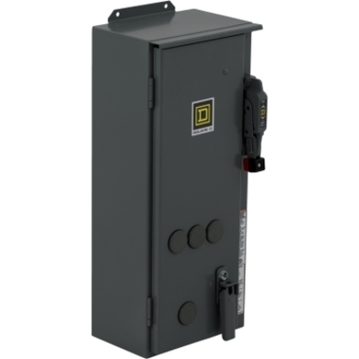 Square D - Schneider Electric 8538SCA22V02S Schneider Electric / Square D 8538SCA22V02S Non-Reversing Combination Motor Starter; 600 Volt AC 3-Pole, 3 Phase, 110 Volt AC at 50 Hz, 120 Volt AC at 60 Hz, 5 hp at 230 Volt AC, 5 hp at 200 Volt AC