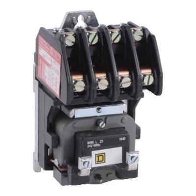Square D - Schneider Electric 8903LO40V01 Square D 8903LO40V01 Electrically Held Lighting Contactor, 600 VAC, 30 A, 4NO, 4-Pole