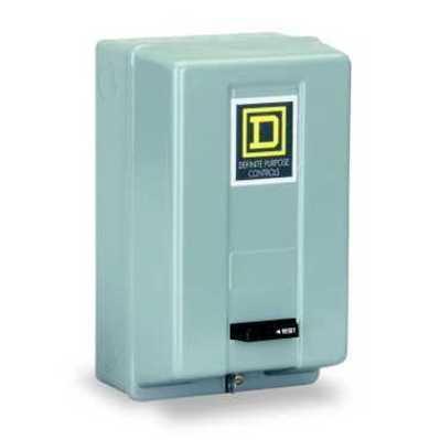 Square D - Schneider Electric 8911DPSG23V02 Square D 8911DPSG23V02 Reversing Type S Definite Purpose Starter, 110 VAC Control Circuit, 600 VAC Main, 25 A, NEMA 1, 3-Pole, 3-Phase