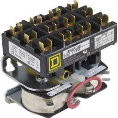 Square D - Schneider Electric 8965RO10V01 Square D 8965RO10V01 Reversing Hoist Contactor, 600 VAC, 3 HP, 3-Pole