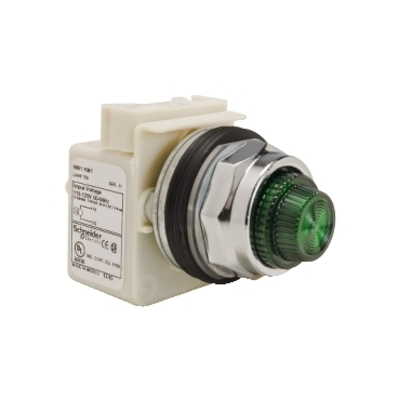 Square D - Schneider Electric 9001KP1G31 Square D 9001KP1G31 Pilot Light, 30 mm, 120 VAC, Green