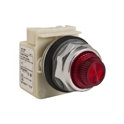 Square D - Schneider Electric 9001KP1R31 Square D 9001KP1R31 Pilot Light, 30 mm, 120 VAC, Red