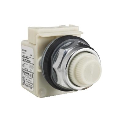 Square D - Schneider Electric 9001KP1W31 Square D 9001KP1W31 Pilot Light, 30 mm, 120 VAC, White