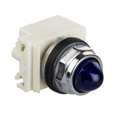 Square D - Schneider Electric 9001KP35L9 Square D 9001KP35L9 Pilot Light, 30 mm, 24 - 28 VAC/DC, Blue
