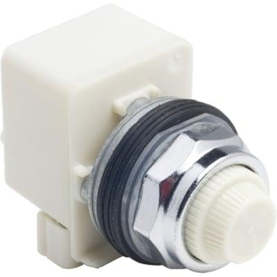 Square D - Schneider Electric 9001KP38LWW31 Square D 9001KP38LWW31 Pilot Light with White LED, 30 mm, 120 VAC, White