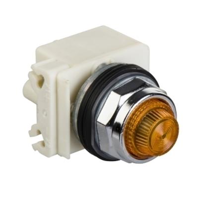 Square D - Schneider Electric 9001KT1 Square D 9001KT1 Push to Test Pilot Light, 30 mm, 120 VAC