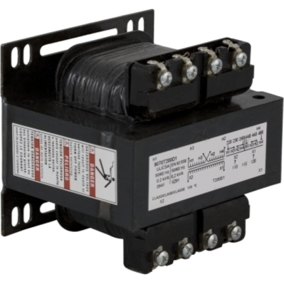 Square D - Schneider Electric 9070T200D1 Square D 9070T200D1 Type T Industrial Control Transformer, 240/480 V Primary, 120 V Secondary, 1-Phase, 200 VA, Screw Clamp Connection