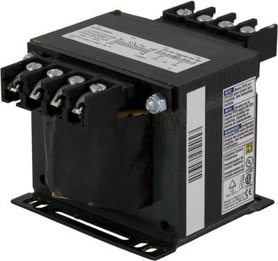 Square D - Schneider Electric 9070T250D23 Square D 9070T250D23 Type T Industrial Control Transformer, 120/240 V Primary, 24 V Secondary, 1-Phase, 250 VA, Screw Clamp Connection