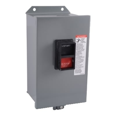 Square D - Schneider Electric 9991MA1 Schneider Electric 9991MA1 Contactor and Starter Enclosure, NEMA 12, For Use w/MBO, MCO Manual Starters