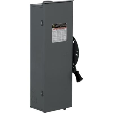 Square D - Schneider Electric DT361RB Schneider Electric / Square D DT361RB Fusible Safety Switch; 30 Amp, 600 Volt AC/DC, 3 Pole