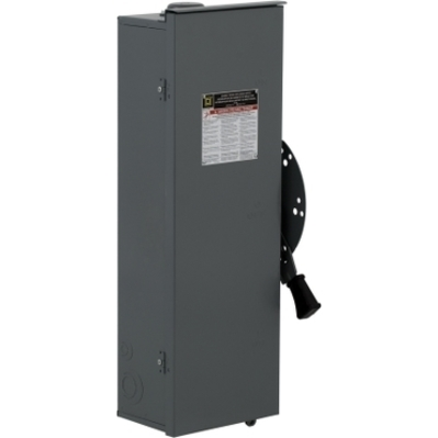 Square D - Schneider Electric DT362RB Square D DT362RB Double Throw Fusible Safety Switch, Single Throw, 60 A, 120/240 VAC, 3-Pole