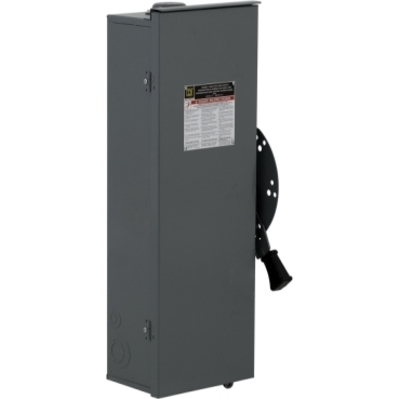 Square D - Schneider Electric DTU363RB Square D DTU363RB Double Throw Non-Fusible Safety Switch, 600 VAC, 100 A, 3-Pole