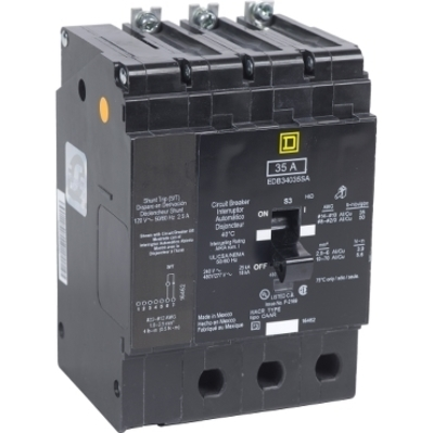 Square D - Schneider Electric EDB34040SA Schneider Electric / Square D EDB34040SA Miniature Circuit Breaker 480Y277V 40A