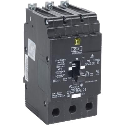 Square D - Schneider Electric EGB34060 Square D EGB34060 Miniature Circuit Breaker, 480/277 VAC, 60 A, 3-Pole, 35 kA