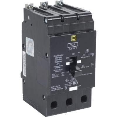 Square D - Schneider Electric EGB36020 Square D EGB36020 Miniature Circuit Breaker, 600/347 VAC, 20 A, 3-Pole, 18 kA