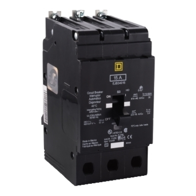 Square D - Schneider Electric EJB34030 Schneider Electric / Square D EJB34030 Lighting Panelboard Miniature Circuit Breaker; 30 Amp, 480Y/277 Volt AC, 3-Pole, Bolt-On Mount