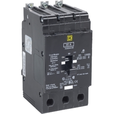 Square D - Schneider Electric EJB34125 Schneider Electric / Square D EJB34125 Miniature Circuit Breaker 480Y277V 125A