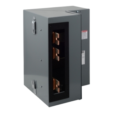 Square D - Schneider Electric EZM1CORNER Square D EZM1CORNER Bus Corner Section, 120/240 VAC, 1200 A, 1-Phase, Steel Enclosure
