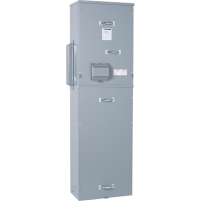 Square D - Schneider Electric EZM3400CBU Schneider Electric / Square D EZM3400CBU EZ Meter-Pak® Circuit Breaker Meter Center Main Unit; 240Y/120 Volt AC, 208Y/120 Volt AC, 400 Amp, Aluminum Busbar, 3 Phase In/Out, Surface Mount