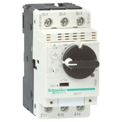 Square D - Schneider Electric GV2P08 Square D GV2P08 Thermal Magnetic Motor Circuit Breaker, 690 VAC, 4 A, 3-Pole, 2.5 W