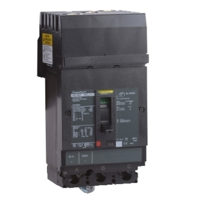 Square D - Schneider Electric HDA36045 Schneider Electric / Square D HDA36045 PowerPact® Molded Case Circuit Breaker; 45 Amp, 600 Volt AC, 250 Volt DC, 3-Pole, Plug-On Mount