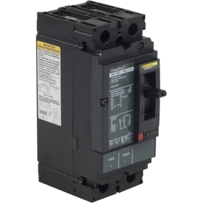 Square D - Schneider Electric HDL26110 Square D HDL26110 Thermal Magnetic Circuit Breaker, 600 VAC, 250 VDC, 110 A, 2-Pole, Unit Mount