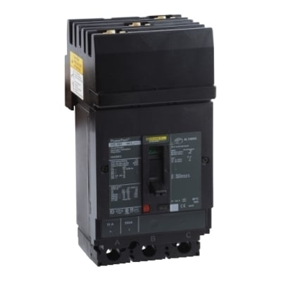 Square D - Schneider Electric HGA36050 Schneider Electric / Square D HGA36050 PowerPact® Molded Case Circuit Breaker; 50 Amp, 600 Volt AC, 250 Volt DC, 3-Pole, Plug-On Mount
