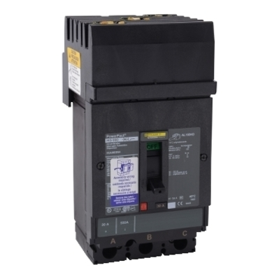 Square D - Schneider Electric HGA36125 Schneider Electric / Square D HGA36125 PowerPact® Molded Case Circuit Breaker; 125 Amp, 600 Volt AC, 250 Volt DC, 3-Pole, Plug-On Mount