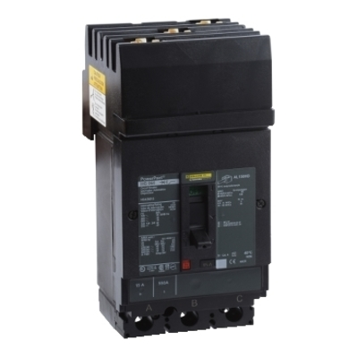 Square D - Schneider Electric HGA36150 Schneider Electric / Square D HGA36150 PowerPact® Molded Case Circuit Breaker; 150 Amp, 600 Volt AC, 250 Volt DC, 3-Pole, Plug-On Mount