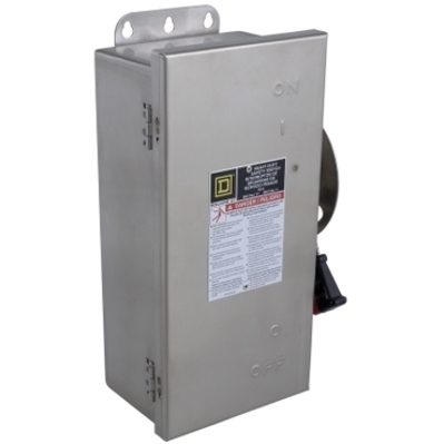 Square D - Schneider Electric HU361DSEI Schneider Electric HU361DSEI Switch Nonfusible Hd 30A StainlesInterl